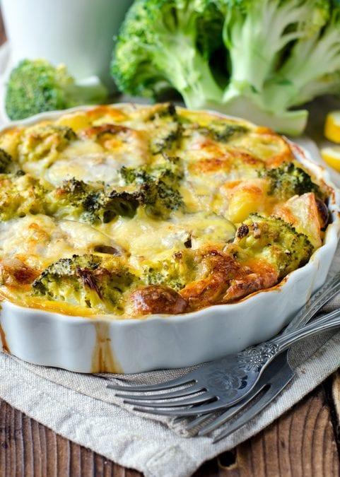 Broccoli, Cheddar & Leek Casserole