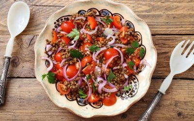 Protein Packed Lentil & Tomato Salad