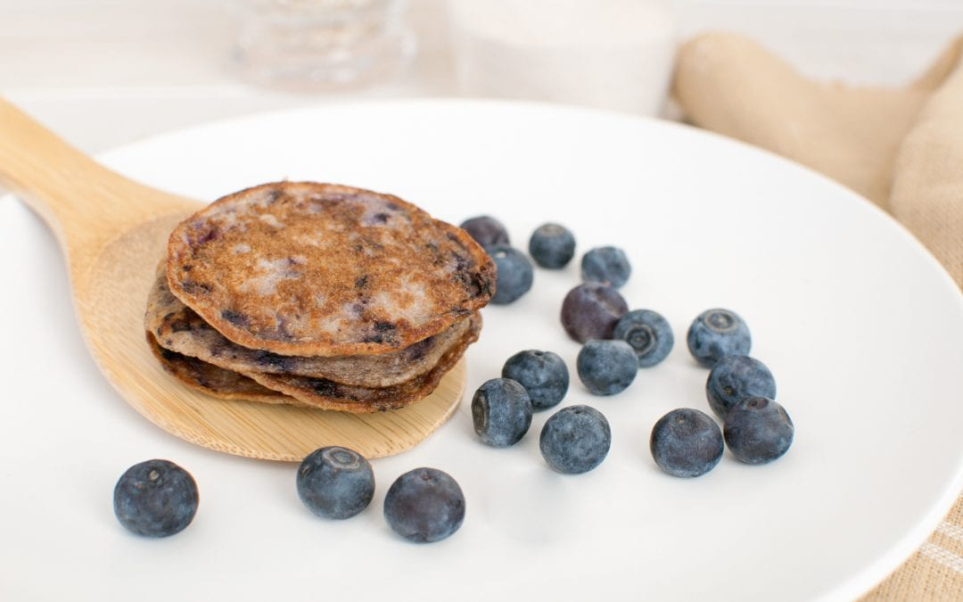 Multigrain Pancakes with Fresh Blueberries
