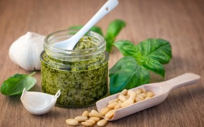 Fresh Garlic & Basil Pesto