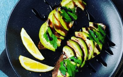 Avocado Toast drizzled with Balsamic
