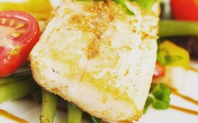 Baked Balsamic White Fish