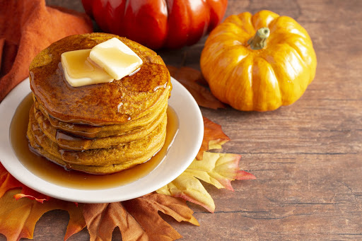 Pumpkin Spice Pancakes with Aged White Balsamic